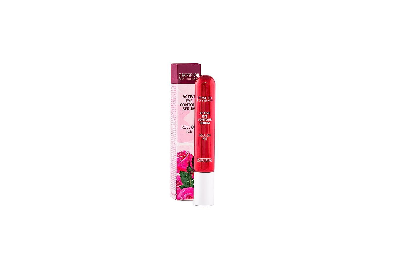 SÉRUM ACTIVO CONTORNO OJOS ROLL-EFECTO HIELO con aceite de Rosa de Bulgaria puro 100% 15 ml | Regina Floris
