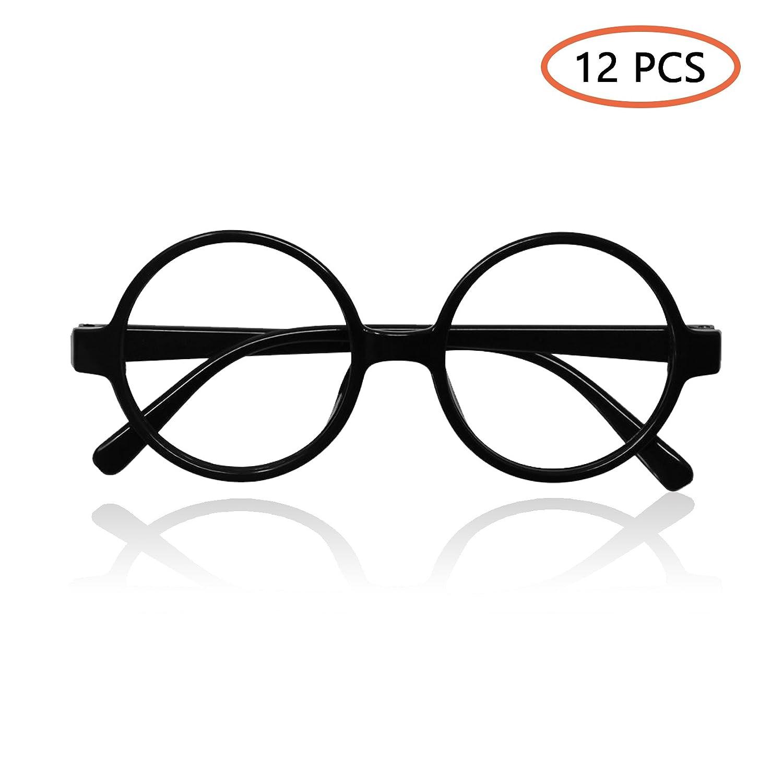 Innobase 12pcs Schwarz Runde Brillen Gläser Glasrahmen Keine Linsen ...