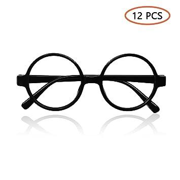 677b765f1c InnoBase Black Round Glasses Frames No Lenses Plastics Novelty Retro  Vintage Eyeglasses Party Bag Fillers Fancy