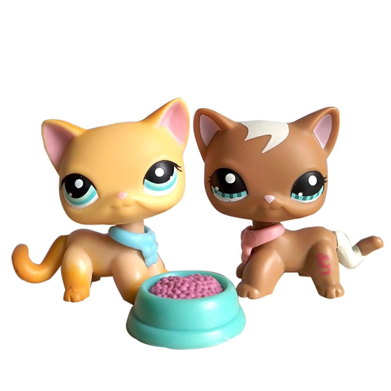 Amazon com: Emmas lps Short Hair Cat 2pcs #339#391 Yellow