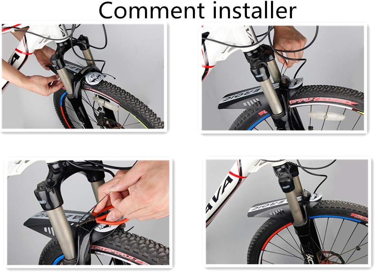 RUIXIA 2 unidades 2 guardabarros para bicicleta de monta/ña