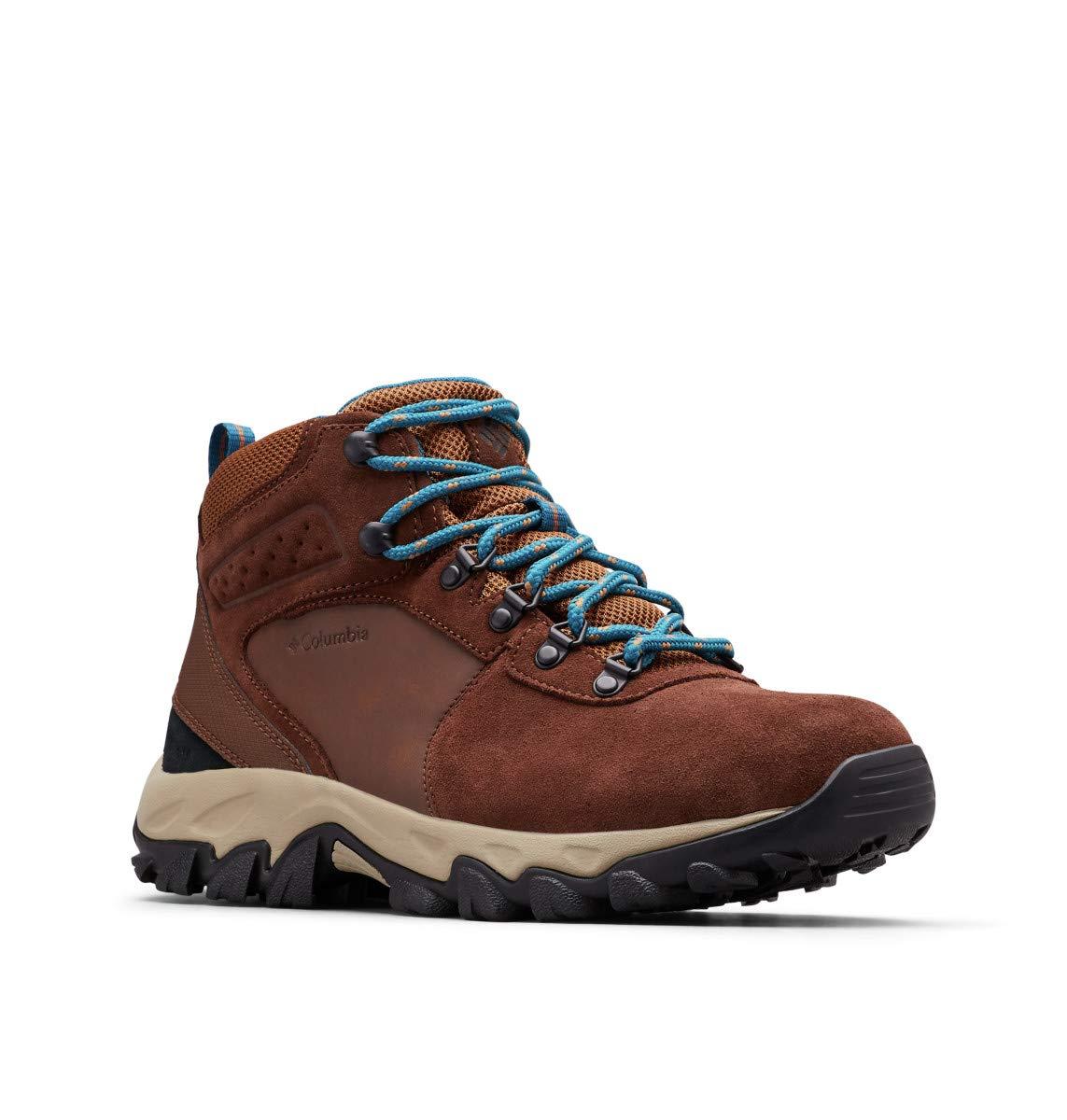 Columbia Men's Newton Ridge Plus II Suede Waterproof Hiking Shoe, Tobacco, Lagoon, 12 Wide US by Columbia