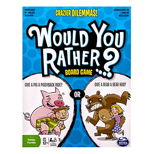 Spin Master Games Would You Rather - Crazier Dilemmas Board Game by Spin Master Games