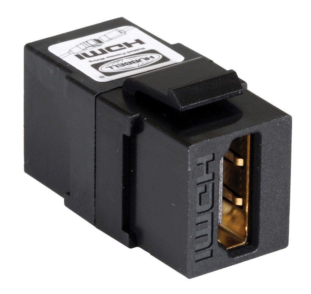 Hubbell Wiring Systems SFHC14BK HDMI Keystone Snap-Fit Screw Terminals, Black