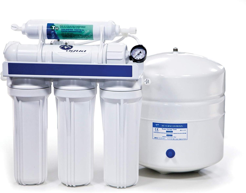 Bbagua 1 Equipo de Osmosis Inversa de 5 Etapas, Plástico, Blanco ...