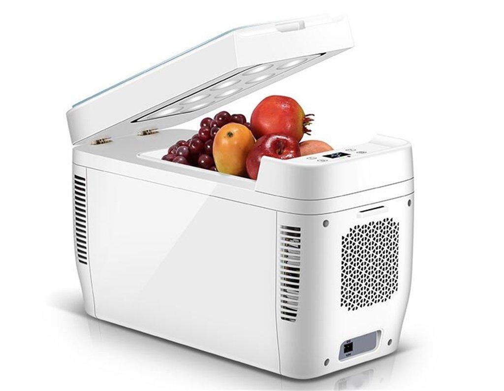Car Refrigerators YXGH@ 11L 12V DC 220V AC Dual-core Refrigeration Heating Refrigeration System 2 Mini Fridge Small Home Micro Refrigerator Car Dual-use Refrigerator Dimensions: 512232cm Internal siz