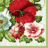 Dining Collection Decorative Paper Lunch Napkins - Roses Are Red