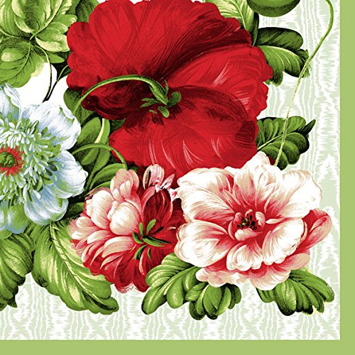 Dining Collection Decorative Paper Lunch Napkins - Roses Are - Rose Collections Red