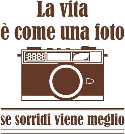 Decalmile Wandtattoo Zitate Italienisch La Vita E Come Una Foto