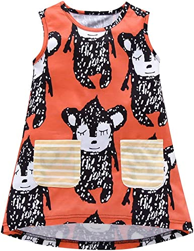 Luckycat Vestido de niña Niños Camisetas de Manga Corta Verano ...
