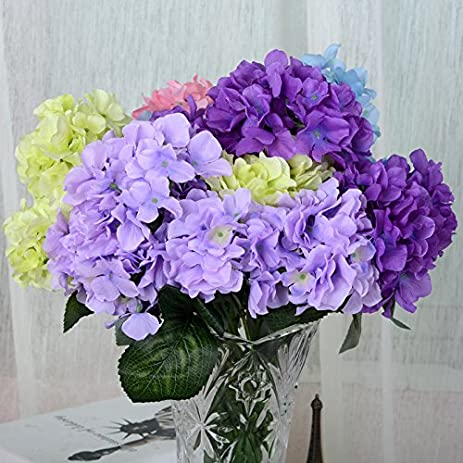 Amazon artificial silk flower arrangement 6 head hydrangea artificial silk flower arrangement 6 head hydrangea european high end dried flowers simulation table mightylinksfo