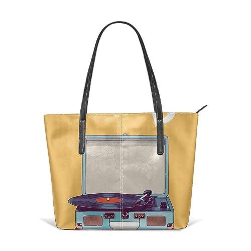 Sotyi-ltd Bolsa de viaje de vinilo azul para reproductor de ...