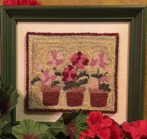 Amazon com: Punch Needle Embroidery GERANIUMS: Handmade