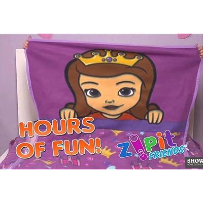 Zip It Friends Kids One-Piece Zippered Set Princess-Twin: Home & Kitchen