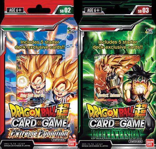 Dragon Ball Super Cross Worlds Starter Decks: Extreme Evolution and Dark Invasion by Dragonball