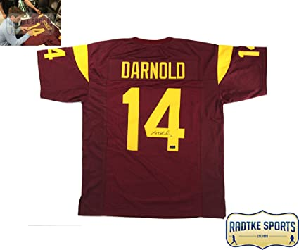 buy popular 8ac39 06586 Sam Darnold Autographed/Signed USC Custom Maroon Jersey at ...