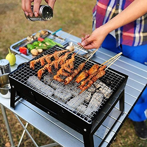LXVY Portable Facile Pliant Grill Barbecue Barbecue au Charbon Patio Party Camping en Plein air Accessoires, Taille: 35 * 27 * 20cm