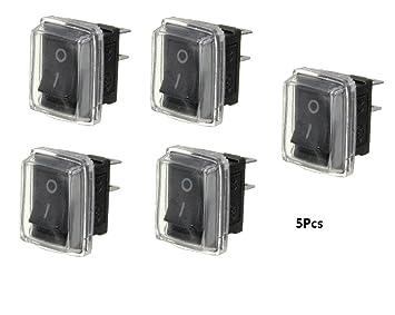 5 STK Mini Kippschalter SPST 12V 24V 250V 15A EIN AUS 2 Polig Für Auto KFZ Boot