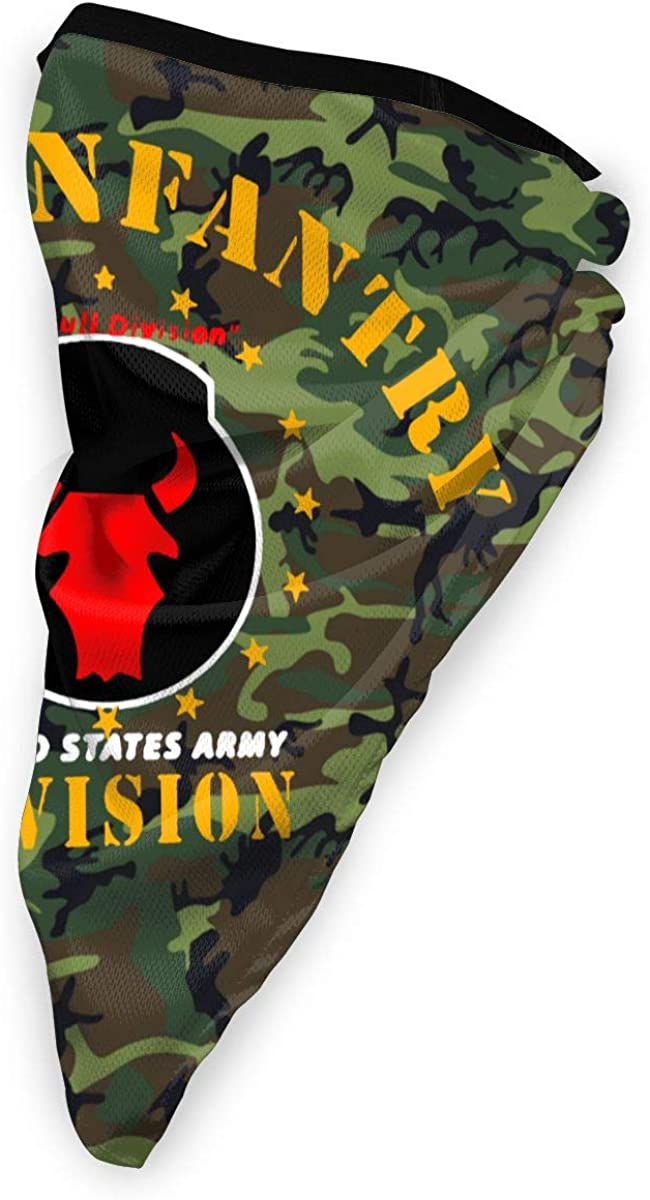 34th Infantry Division Outdoor Face Mouth Mask Windproof Sports Mask Ski Mask Shield Scarf Bandana Men Woman