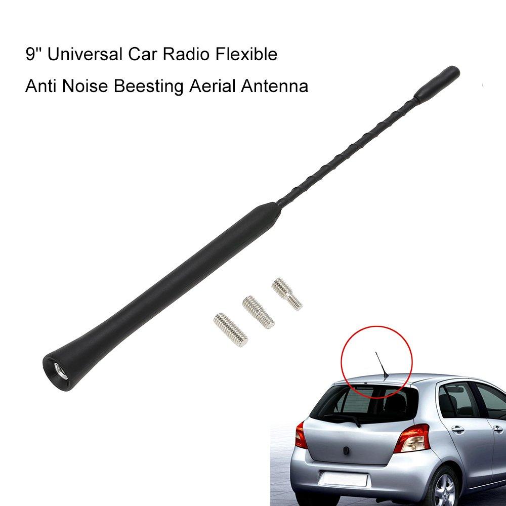 Auto KFZ Gummi Antenne Kurzstabantenne Dachantenne Antennenstab 16V 9cm