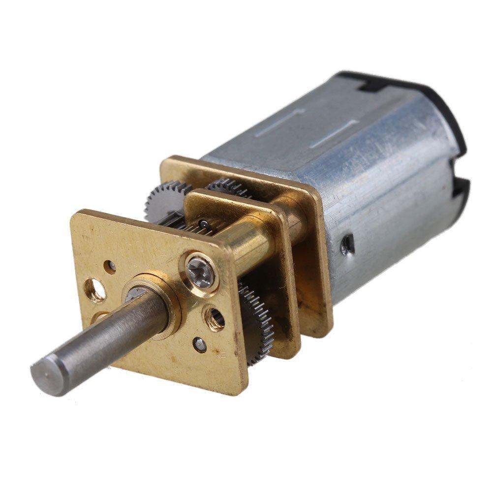 CNBTR 12mm Argent GA12-N20 60RPM Miniature En M¨¦tal ¨¦lectrique 12 V CC Moteur Roue Dent¨¦e avec 10mm Arbre De Sortie yqltd