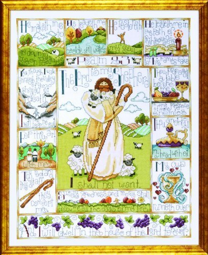 23rd psalm cross stitch kit