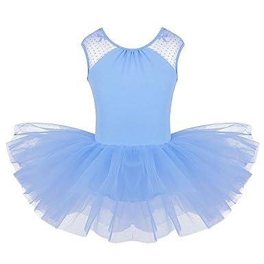 FEESHOW Justaucorps Danse Femme Gym Fille Costume Robe Danse Classique  Caraco Fille sans Manches Leotard Danse ceca97b44e6