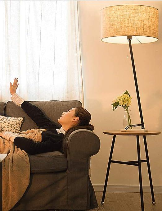 Lámparas de pie Amos Sala de Estar Moderna Minimalista Habitación de Hotel de Estilo Europeo con lámpara de mesita de Noche: Amazon.es: Hogar