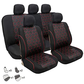 8PCS Auto sitzbez/üge universal schwarz Set Autositzbezug Schonbezug Sitzbezug F/ür Das Auto Sitzbez/üge Autositz Quiet,T Schwarz