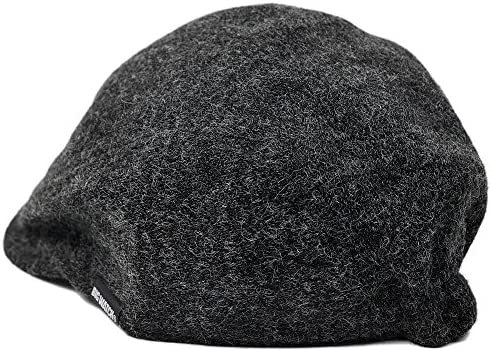 帽子 大きいサイズ フランネル ハンチング チャコールグレー FHN-02 メンズ