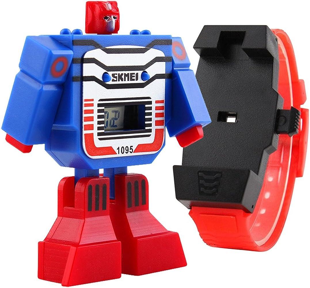 switchme disfraz infantil de diseño de Digital LED reloj robot de ...