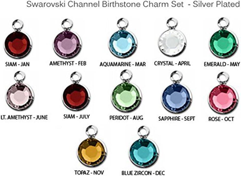 1 6 mm Swarovski Rondelle Silver Plated//Blue Zircon