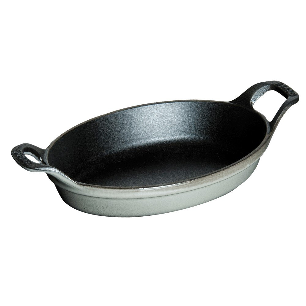 Staub Roasting Dishes 9.5 Inch, Oval 1302318 B002L6H9LY 9.5 Inch, Oval,グラファイトグレー