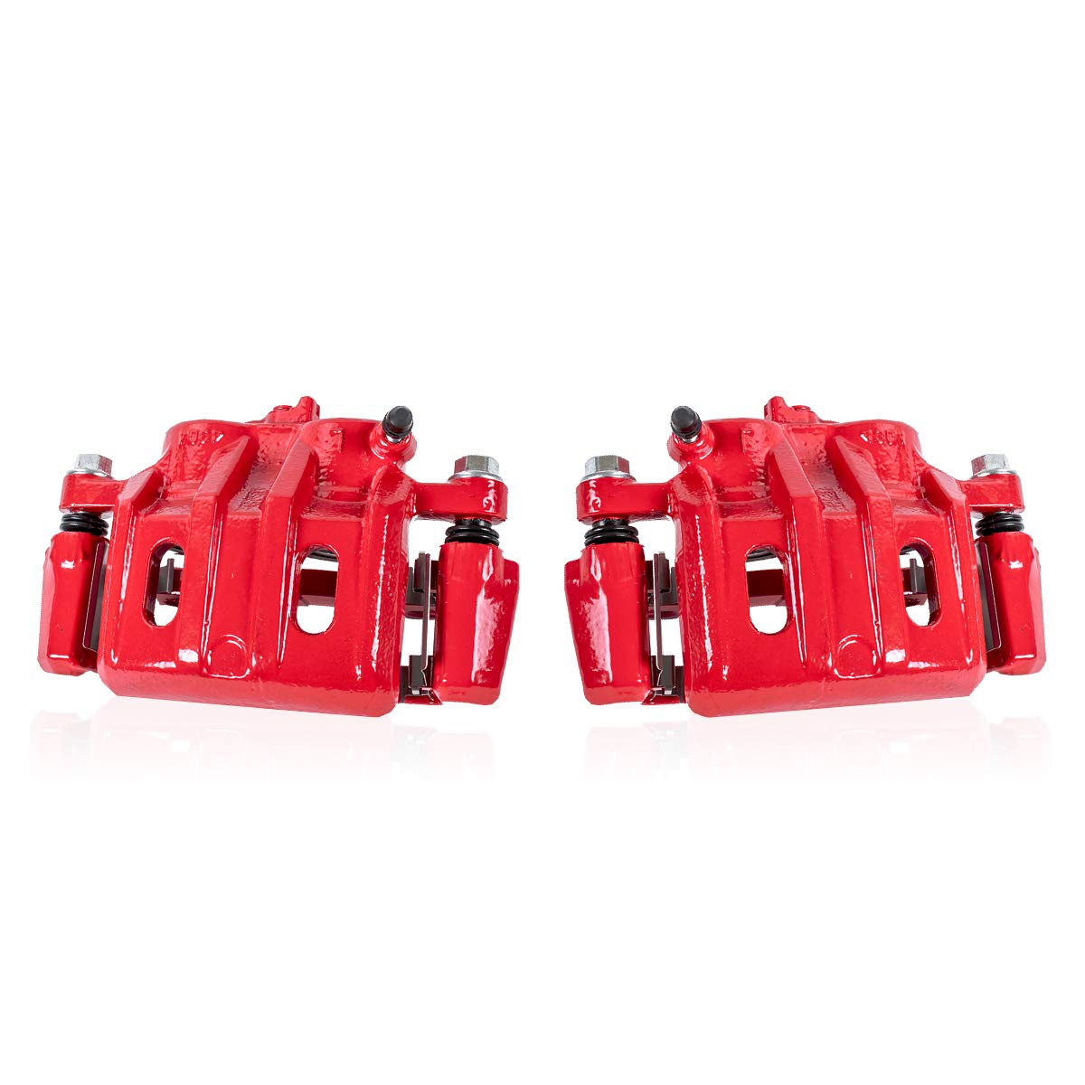 FRONT Powder-Coated Performance Brake Calipers Clips 2 Callahan CCK05494 fit 2003-2009 Lexus GX470 Toyota 4Runner