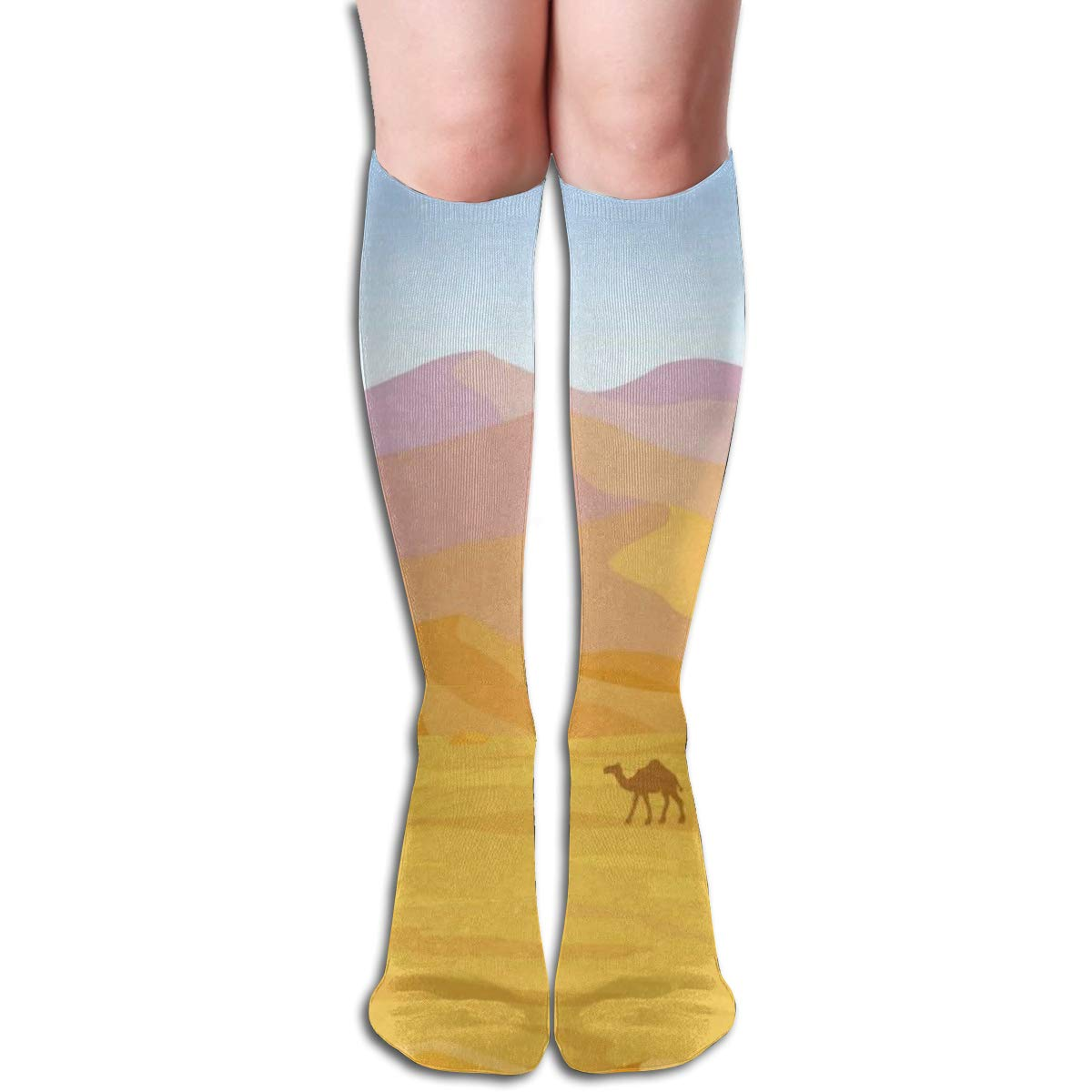 Stretch Stocking Dunes Of Desert Soccer Socks Over The Calf For Running,Athletic,Travel