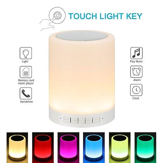 8 opinioni per Lampada da Comodino Illuminant Sound Box Speaker Altoparlante bluetooth fonte