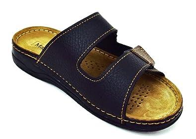 a0d0bcafb605 ACO Herren Pantoletten Soft-Fußbett Innen Leder  Amazon.de  Schuhe    Handtaschen