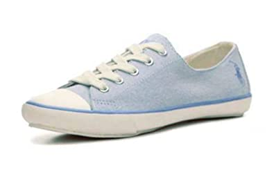 the latest f0a24 d0fa4 Ralph Lauren Damen Sneaker, Blau - Blau - Größe: 37: Amazon ...