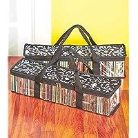 Set of 2 Oriental Art Cd Storage Bags (Holds 50 Cds Each - 100 Total!)