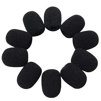 Baskets 2018 france pas cher vente comment trouver Lot de 10 minis bonnettes anti-vent pour micro-cravate, en mousse éponge,  noir, longueur : 28 mm, largeur : 22 mm, diamètre interne : 8 mm