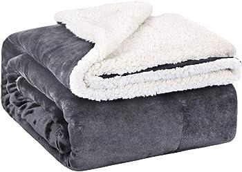 Emme Sherpa Fleece Warm Cozy Microfiber Soft Plush Throw Blanket