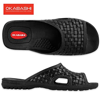 dd81372e2c0124 Okabashi Men s Torino Ergonomic Waterproof Massaging Sandal Shoes   Amazon.co.uk  Shoes   Bags