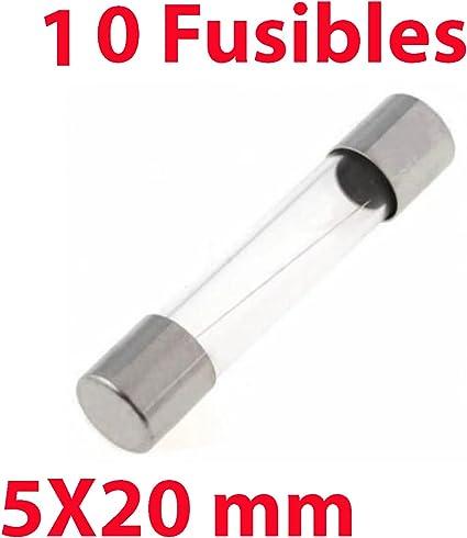 5X Fusible de Vidrio 5X20 mm 2A 250V