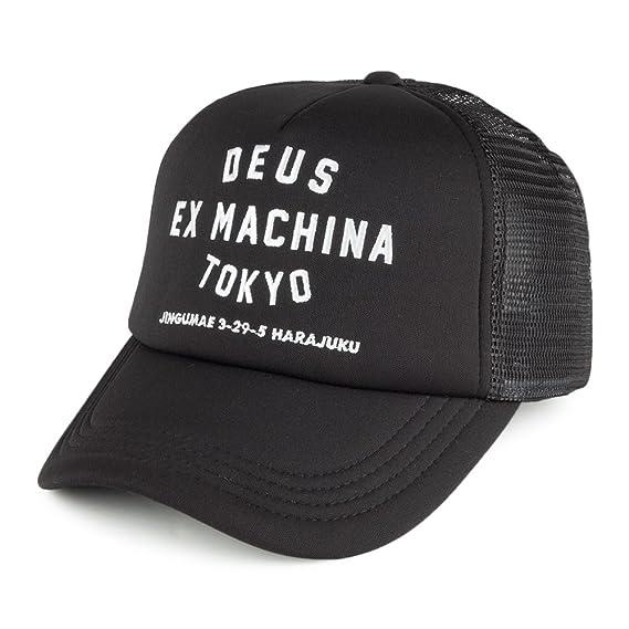 ff4912e7 Deus Ex Machina Tokyo Address Trucker Cap Black White: Amazon.co.uk:  Clothing