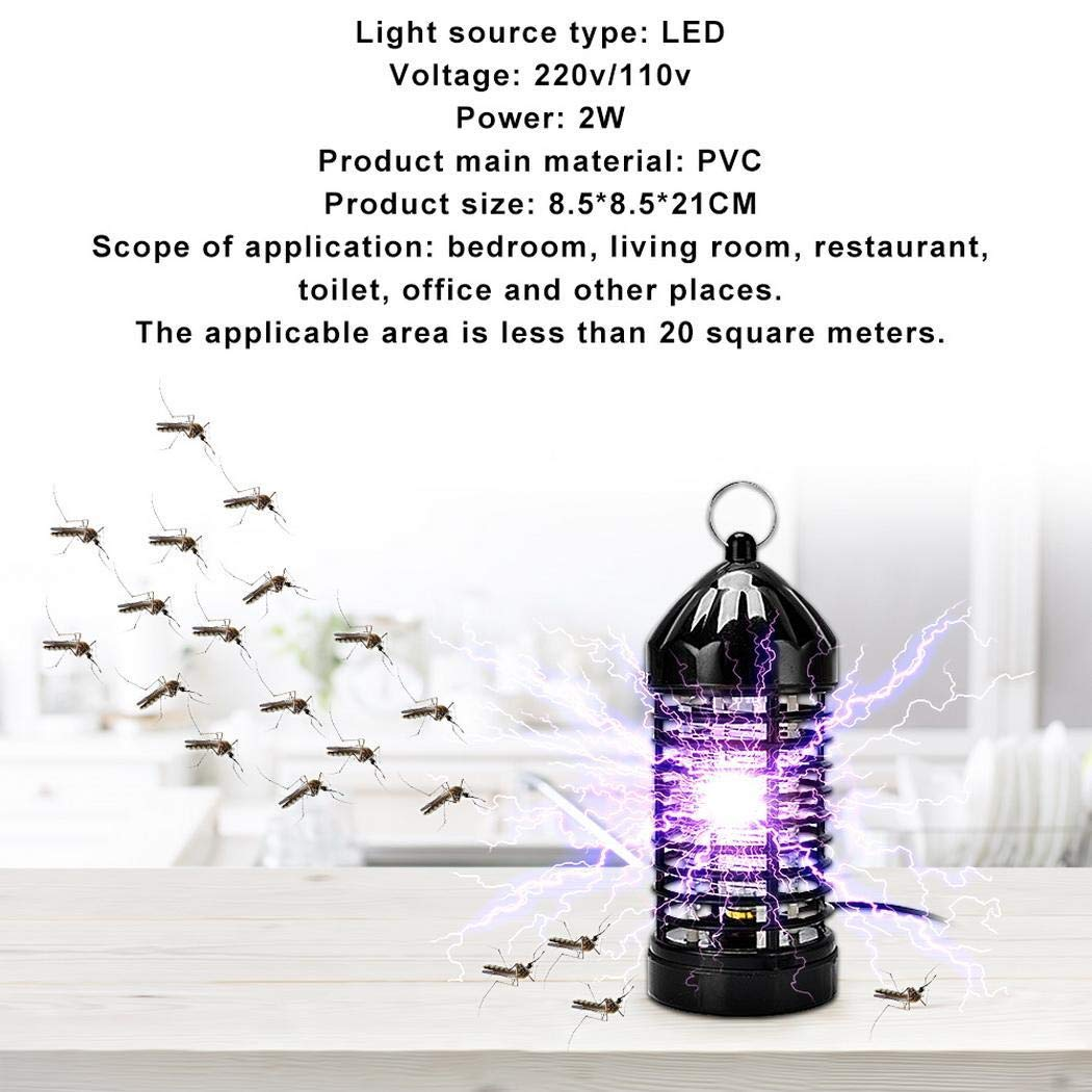 MinGe Home Safe Low Noise Radiation-Free Efficient Mosquito Killing Mosquito Repellent Lamp Bug Zappers Black