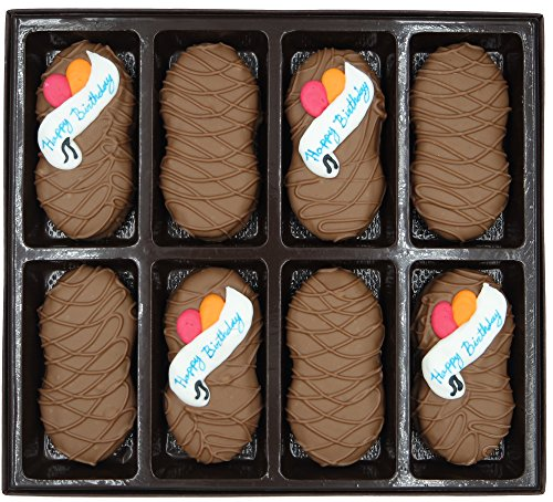 Philadelphia Candies Milk Chocolate Covered Nutter Butter Cookies, Happy Birthday Gift Net Wt 8 - Happy Bouquet Birthday Cookie