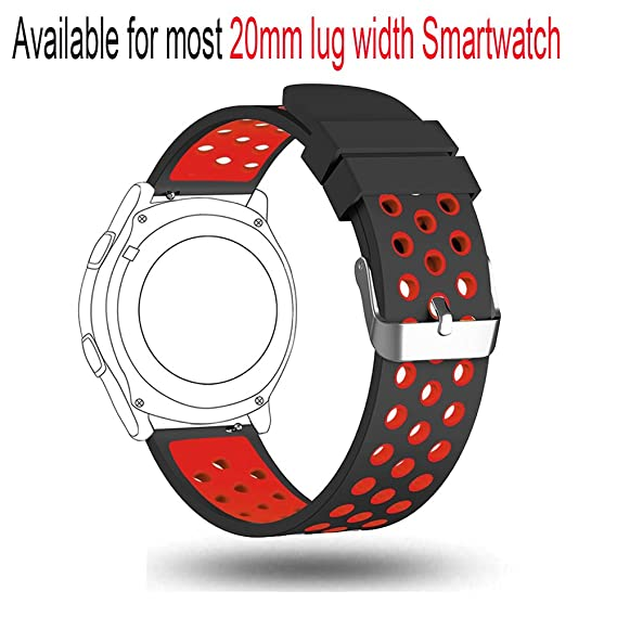 Budesi 20mm Smart Watch Band Bracelet Strap for Samsung Gear S2 Classic (SM-R732,SM-R735), Moto 360 2 42mm Men, Pebble Time Round 20mm, Bradley ...