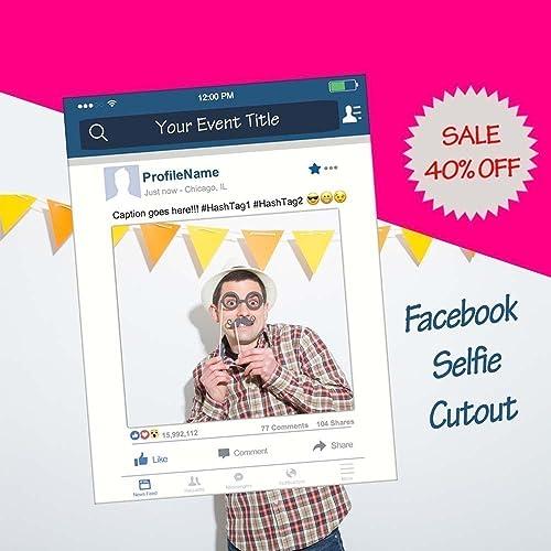 Amazon.com: Facebook Frame, facebook prop for parties, Cutout, for ...