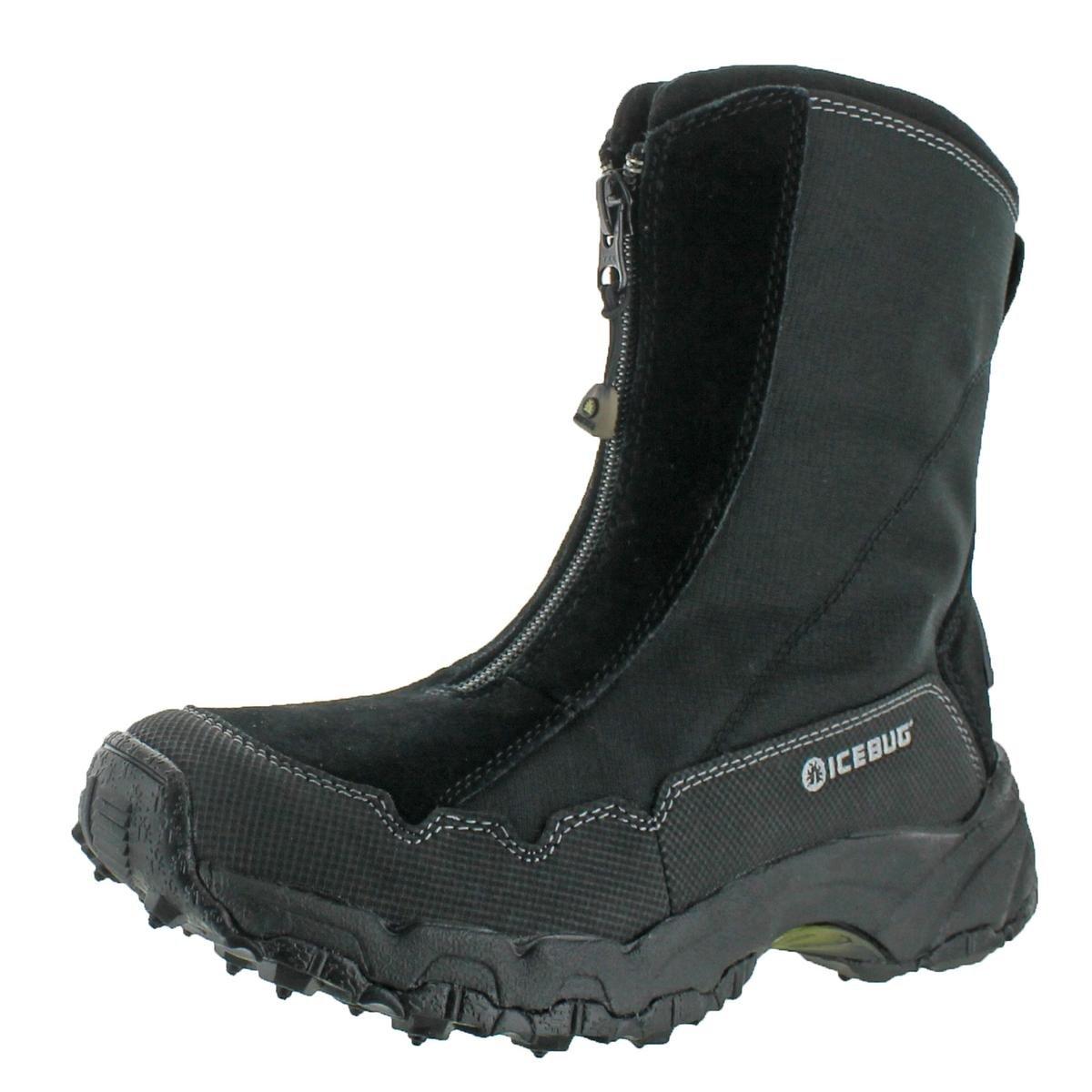 Icebug Women's Ivalo BUGrip Studded Traction Winter Boot,Black,6.5 M US