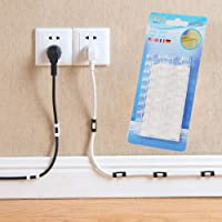 2 * 16pcs Wire Cable Clips Organizer Desktop & Workstation Clips Cord Management Holder USB Charging Data Line Cable…
